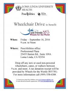 Wheelchair Drive flyer 2016
