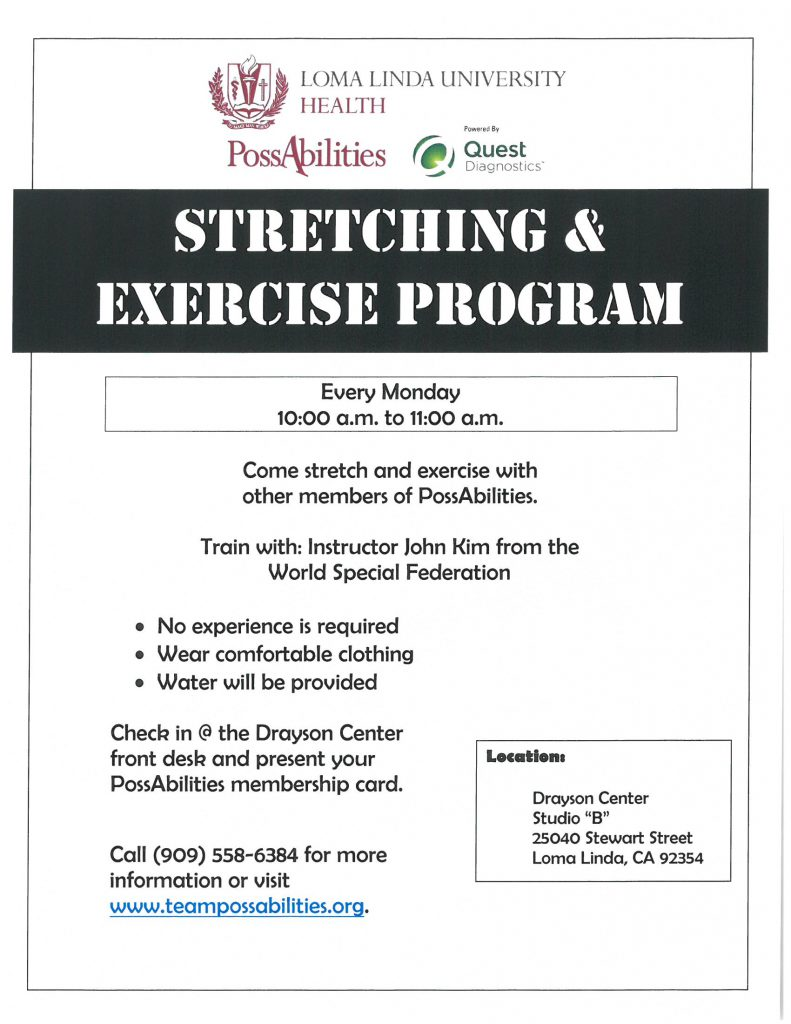 stretching class flyer