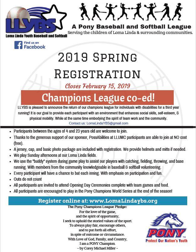 Loma Linda Youth Baseball and Softball - PossAbilities